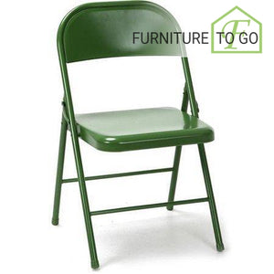 Clearance Furniture in Dallas 10.00 Green Steel Folding Chair