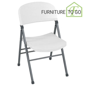 Clearance Furniture in Dallas 10.00 White Resin Folding Chair