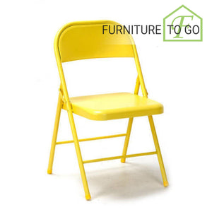Clearance Furniture in Dallas 10.00 Yellow Steel Folding Chair