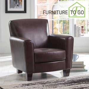 Clearance Furniture in Dallas 129.99 Brown Ellis Club Chair