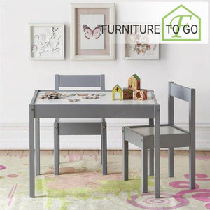 Clearance Furniture in Dallas 30.00 Gray 3 PC Kids Table and Chair Set