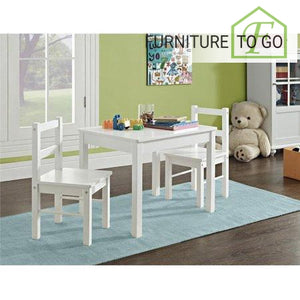 Clearance Furniture in Dallas 40.00 White Wood 3 Piece Kids Table and Chairs