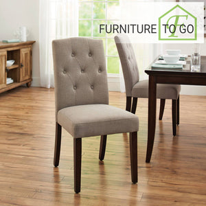 Clearance Furniture in Dallas 60.00 Tufted Fabric Dining Chair