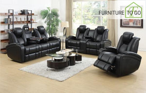 Dallas Furniture Store - Living Room 601741P S3 3PC (SOFA + LOVE+ RECLINER)