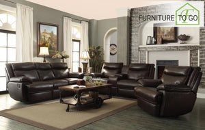 Dallas Furniture Store - Living Room 601811P S3 3PC (SOFA + LOVE+ RECLINER)