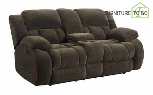 Dallas Furniture Store - Living Room 601925 MOTION LOVESEAT W/ CONSOLE