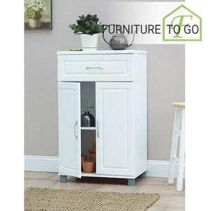 Clearance Furniture in Dallas 1 Drawer / 2 Door Base Storage Cabinet, White
