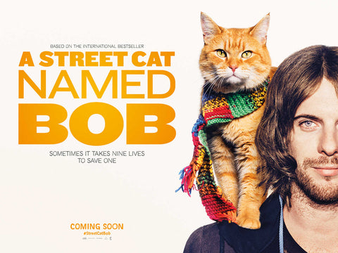 front cover of a street cat called bob movie