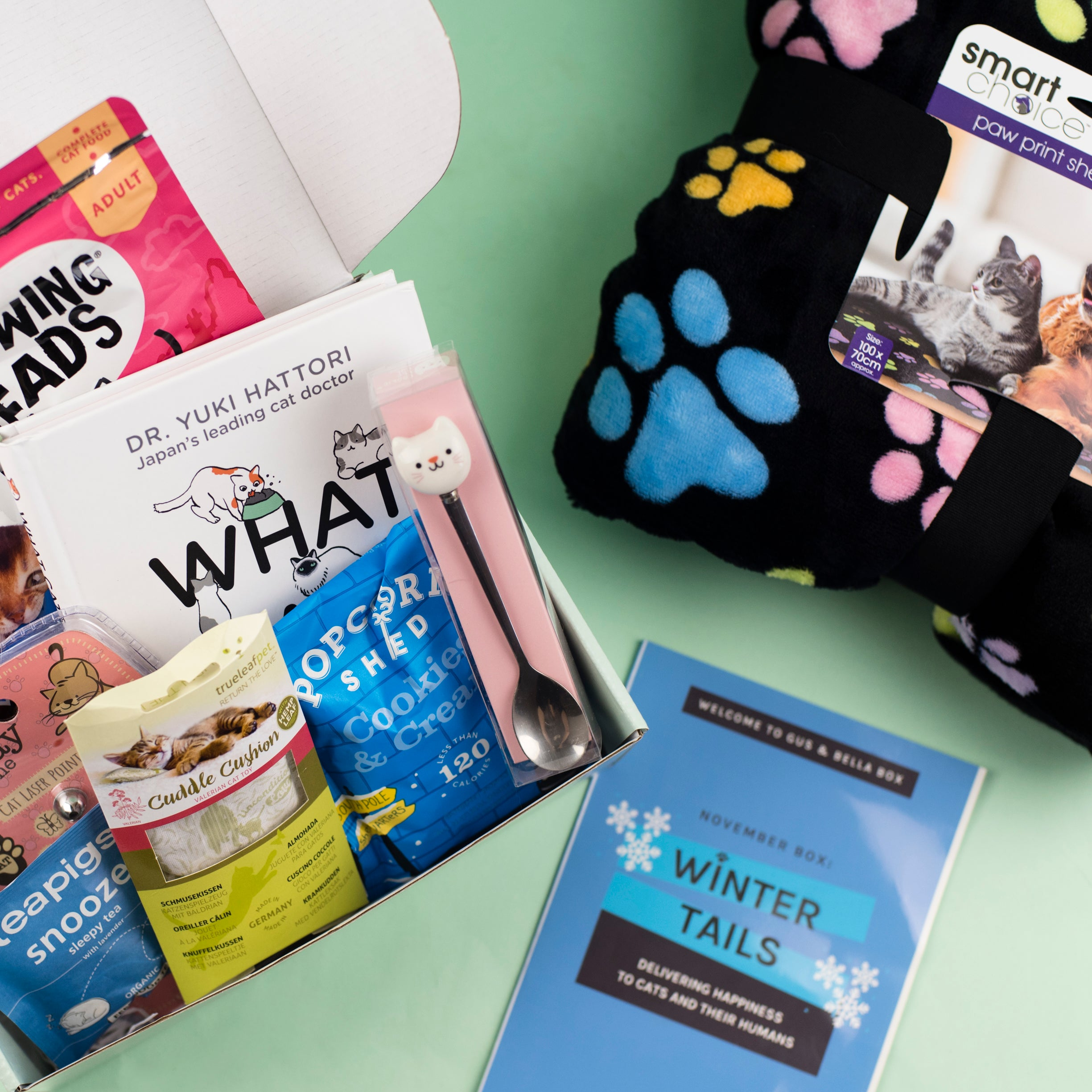Winter Tails cat subscription box
