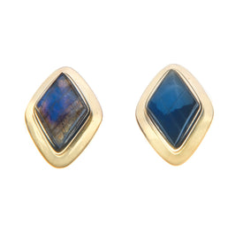 18k royal blue fire studs-sold