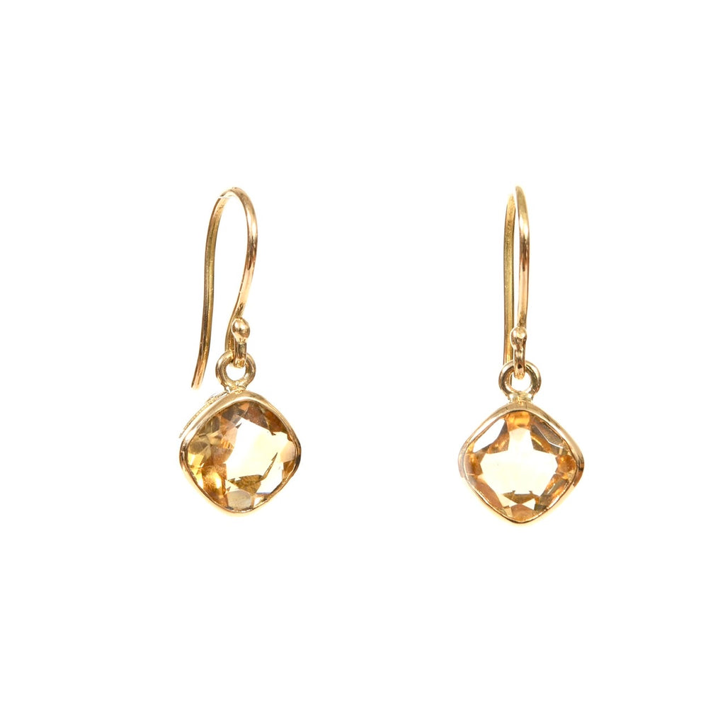 Citrine Diamond Dangles-sold