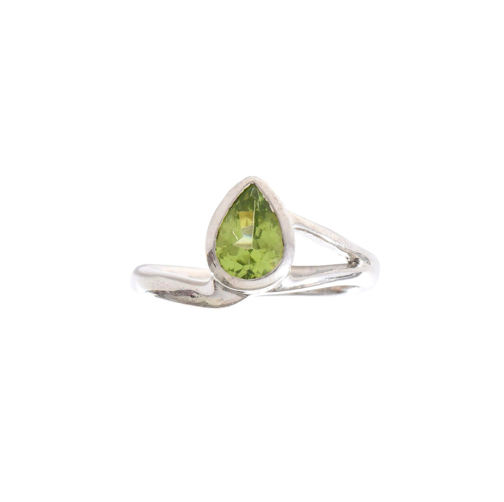 Asymmetrical Peridot Drop