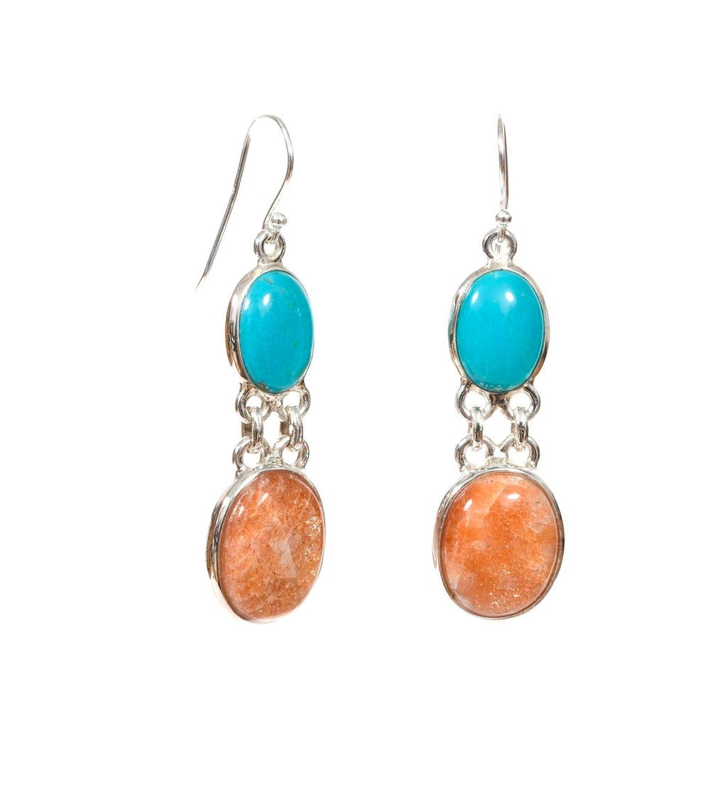 Turquoise Sun Dangles-sold