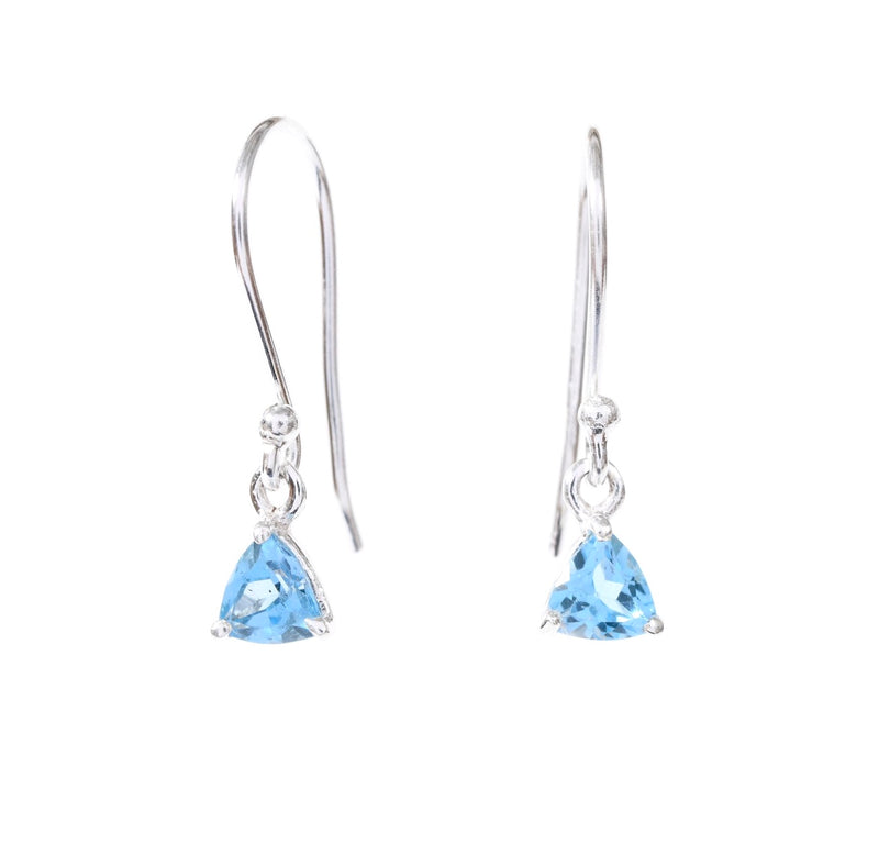 Blue Topaz Trillion Drops