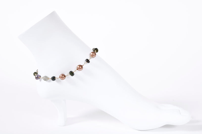 Chocolate Pearl Anklet