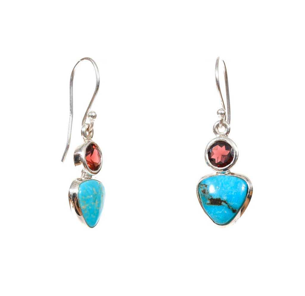 Garnet Turquoise Dangle