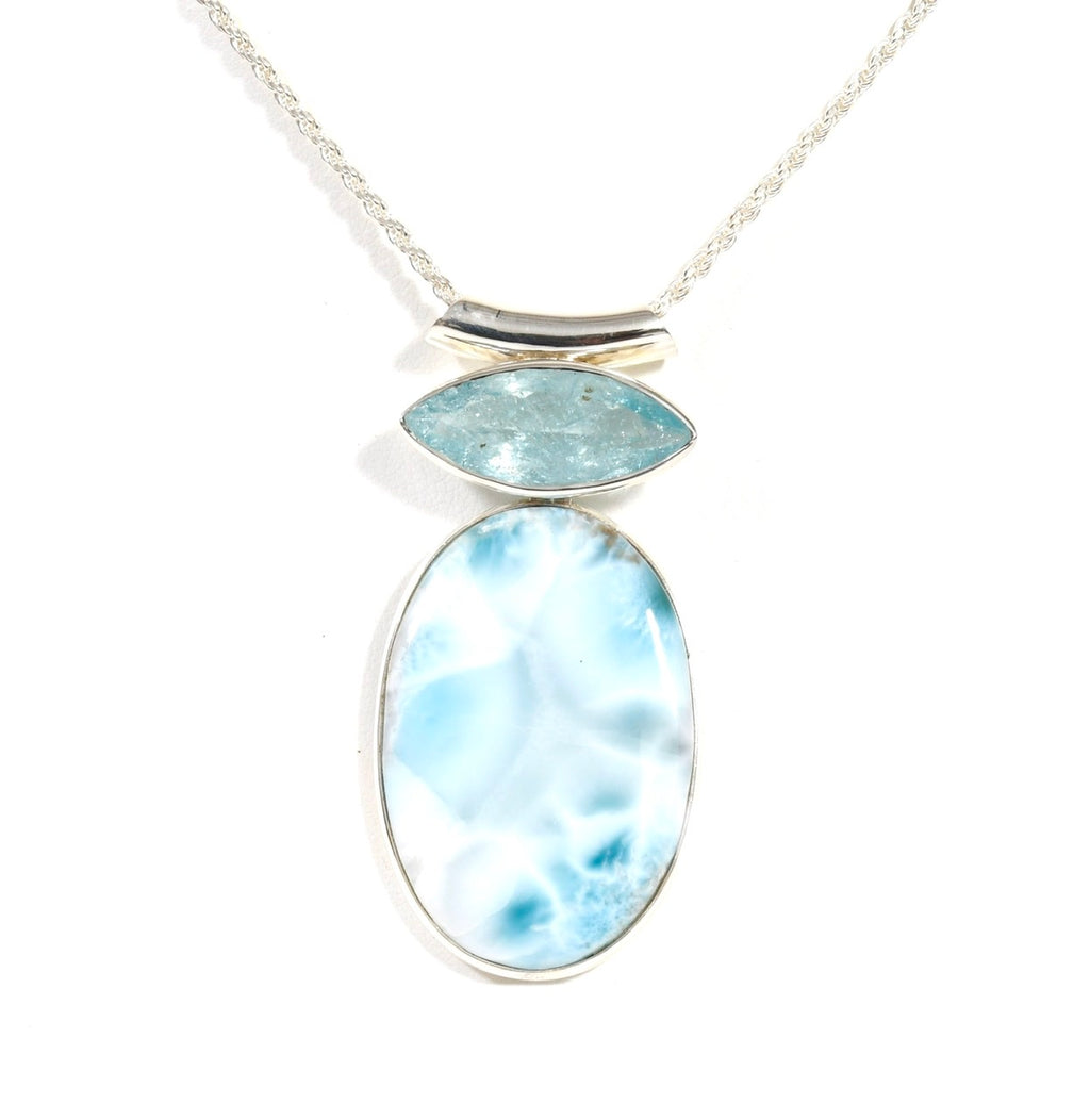 Blue Eye Larimar Oval