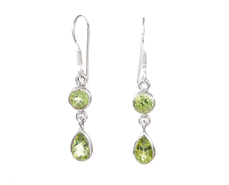 Peridot Duo Dangles