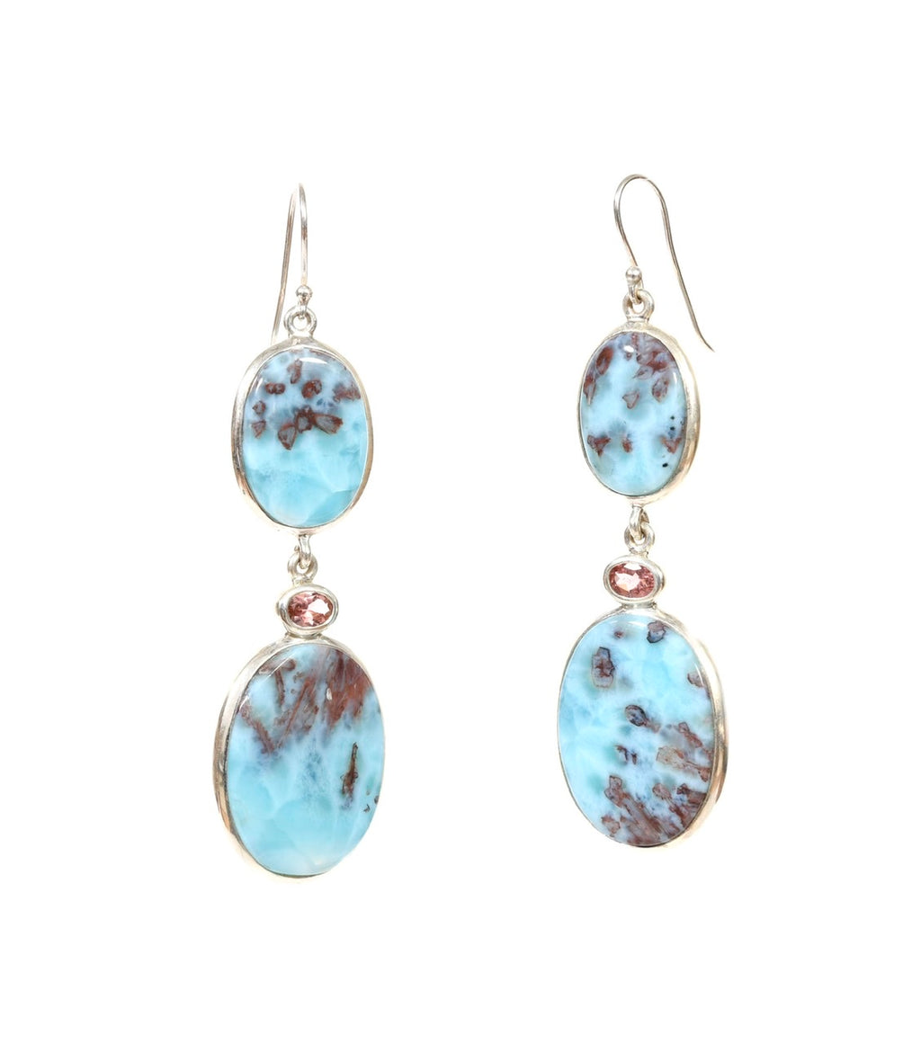 Larimar Rose Dangles