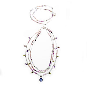 Color of Art Necklace and Bracelet