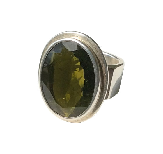 Dark Green Tourmaline Ring