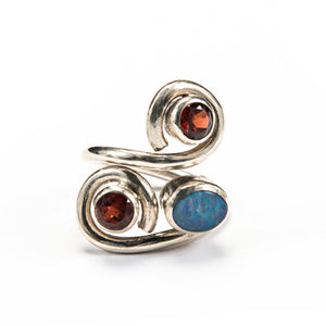Garnet and Opal S ring-Sold