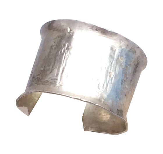 Italian Silver Fashion Hammered Cuff-Sold