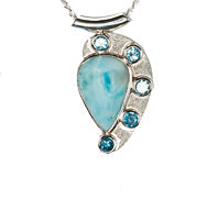 Joie Larimar and Blue Topaz Pendant-sold