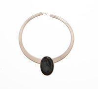 Oval Black Onyx Egyptian Omega-sold