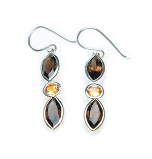Smoky Maya Dangles