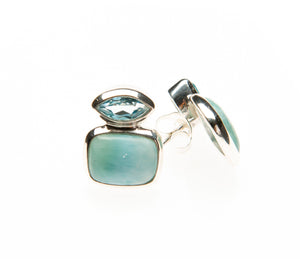 Blue topaz larimar Deco eye
