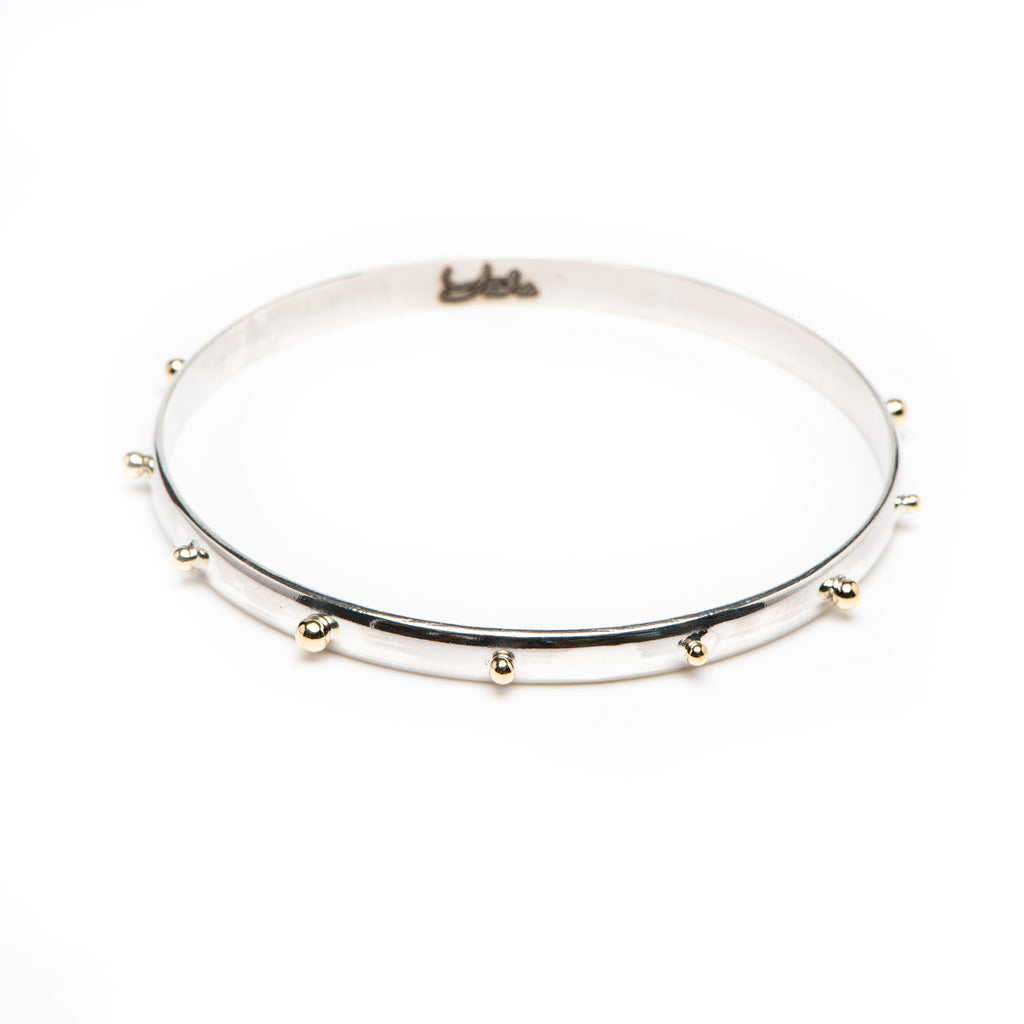 Petite Gold Studded Bangle