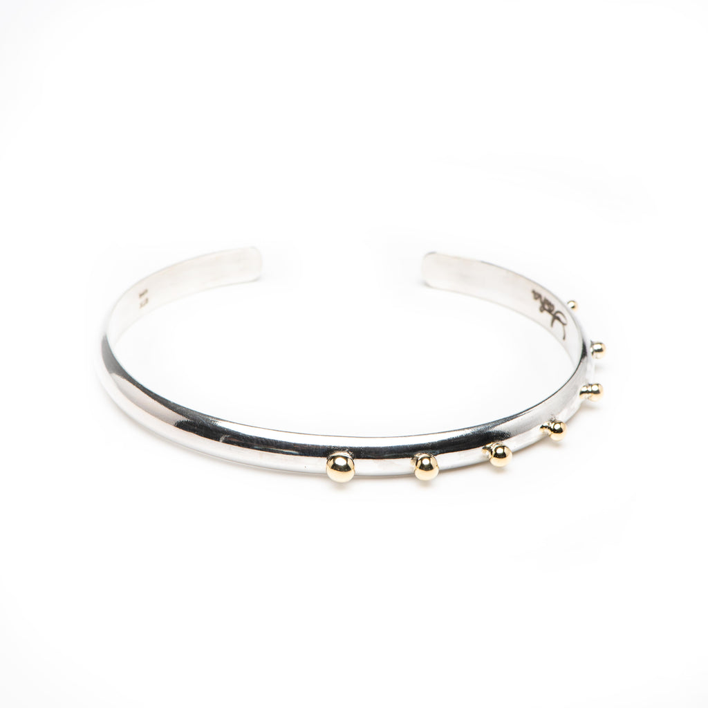 Asymetrical Gold Studded Cuff