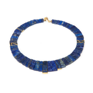 Egyptian Lapis Star Omega and Pendant-Sold