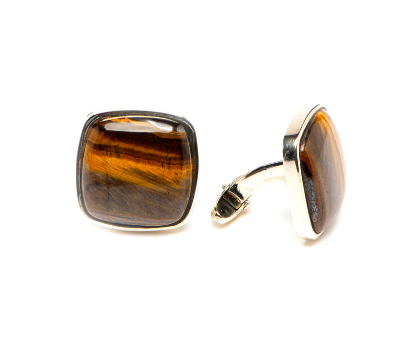 20mm Tigers Eye Cuff Links
