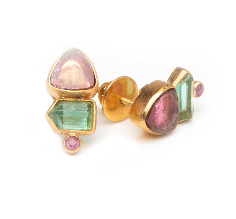 Teal and Pink Tourmaline