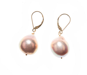 18k Rose Baroque Pearls