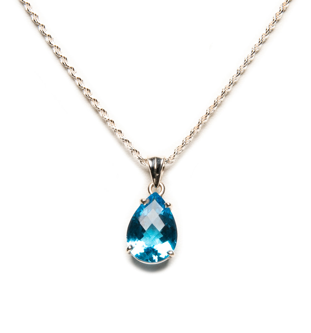 Blue Topaz Drop Princess