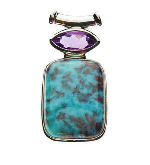 Amethyst and Cabernet Larimar
