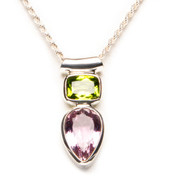 Peridot Kunzite Duo-sold