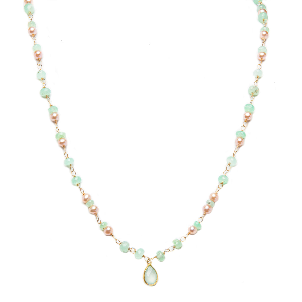 Renda In Pink Pearl and Chrysoprase