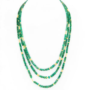 Imperial Emerald Pave and 22k
