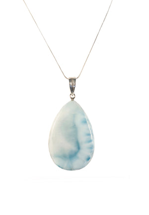 Larimar Tear Drop Pendant-Sold