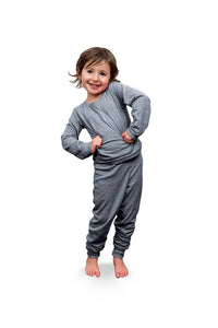 Blank Pajamas, Bulk pjs, Christmas pjs-girl gray