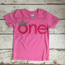 Load image into Gallery viewer, Crown 1st birthday outfit, princess first birthday shirt, little princess shirt