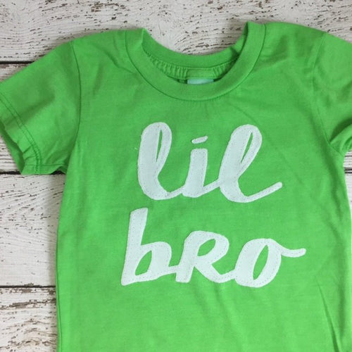 lil bro shirt, sibling tee, birth announcement