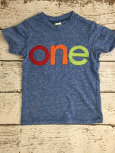 Load image into Gallery viewer, first birthday shirt, simple tee, 1st birthday