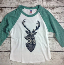 Load image into Gallery viewer, Nordic Christmas, raglan shirt, deer shirt
