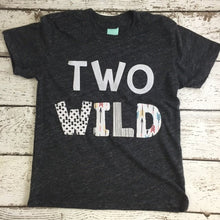 Load image into Gallery viewer, two wild, wild one, Children's birthday shirt