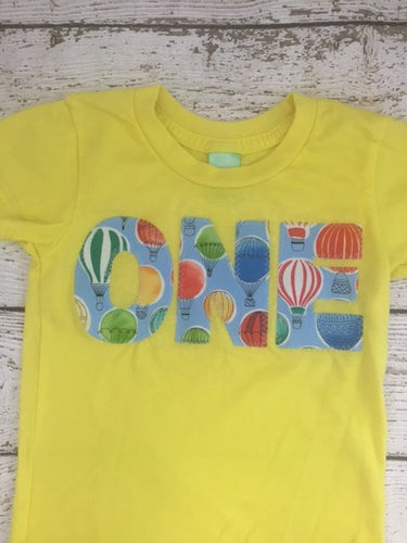 hot air balloon party, first birthday shirt, time flies party